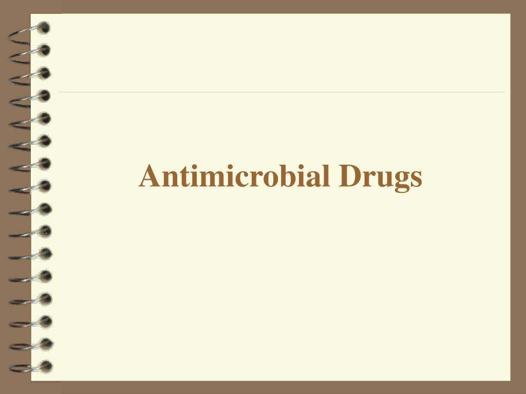 antimicrobial drugs l.