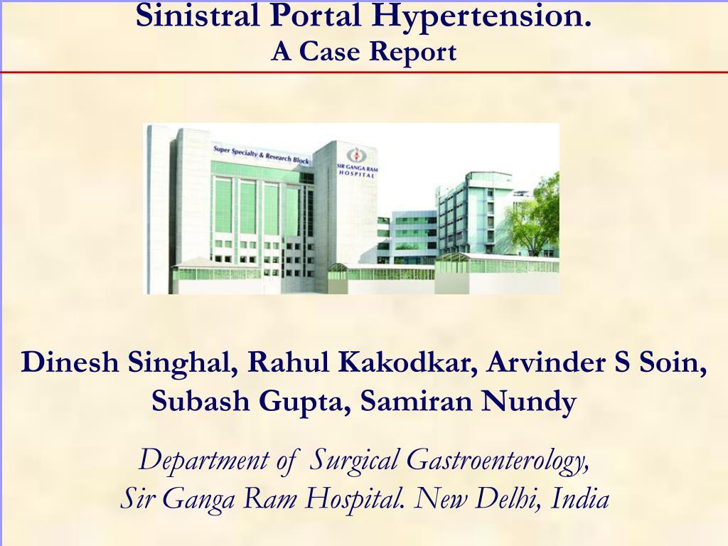 sinistral portal hypertension a case report l.