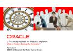 21 st  Century Realities for Midsize Companies  What is Oracle's Strategy for this market?