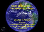 Earth Observations: The View from Scripps