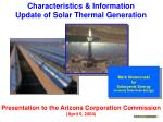 Characteristics & Information Update of Solar Thermal Generation