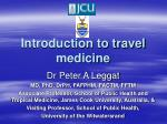 Introduction to travel medicine