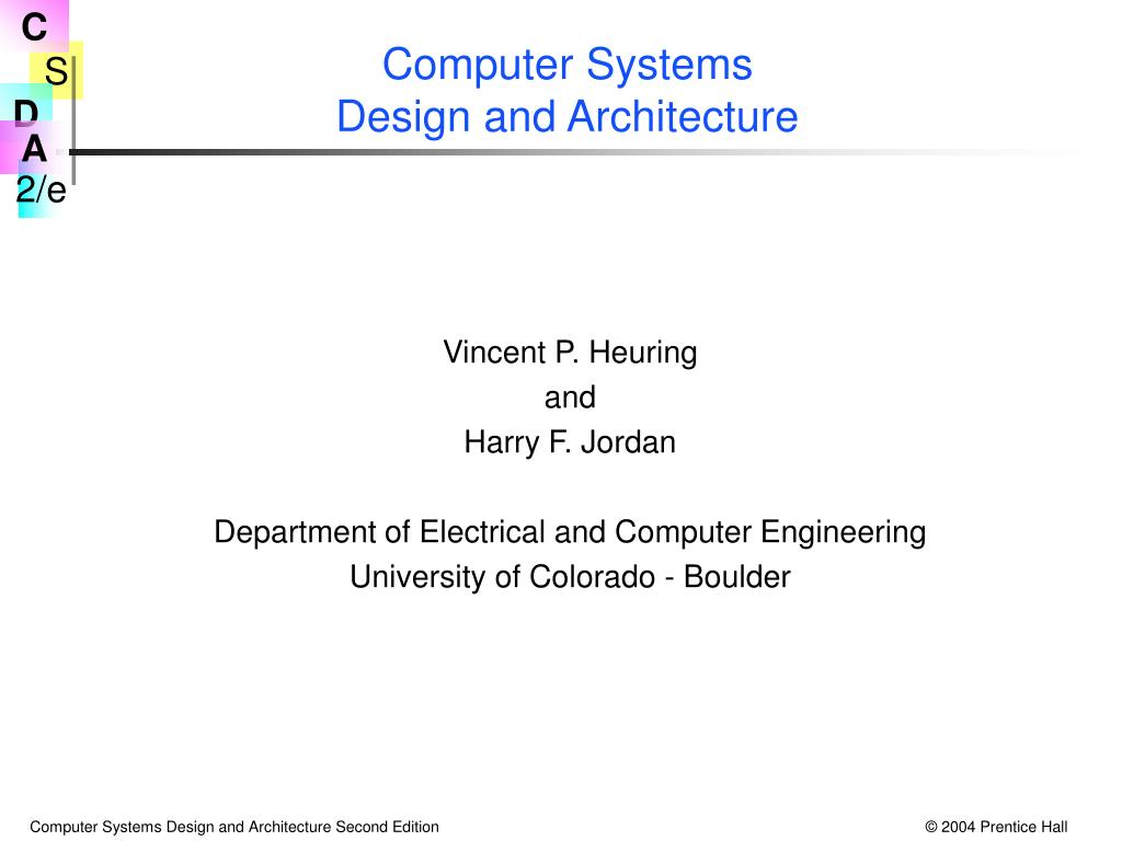Ppt Computer Systems Design And Architecture Powerpoint Presentation Id 6987