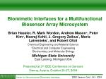 Biomimetic Interfaces for a Multifunctional B iosensor Array Microsystem