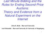 Last Minute Bidding and the Rules for Ending Second-Price Auctions: Theory and Evidence from a Natural Experiment on th