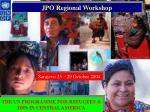 JPO Regional Workshop