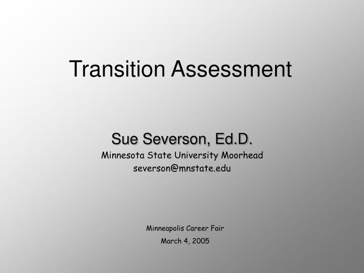 transition assessment n.