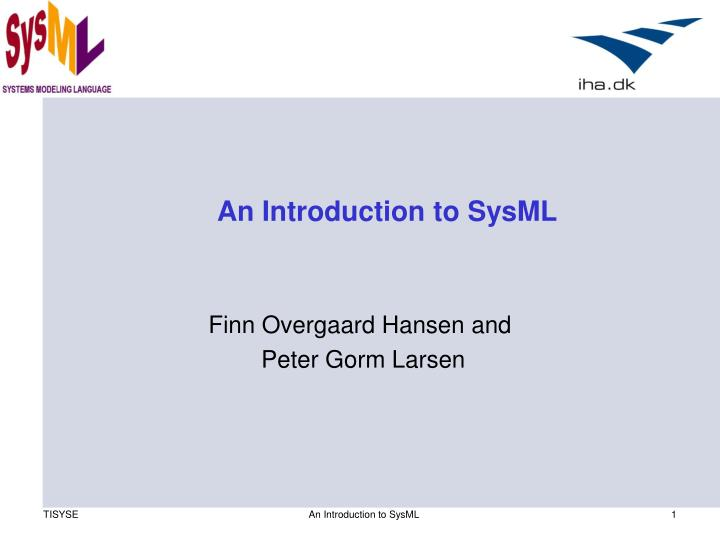an introduction to sysml n.