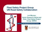 Fleet Safety Project Group UN Road Safety Collaboration