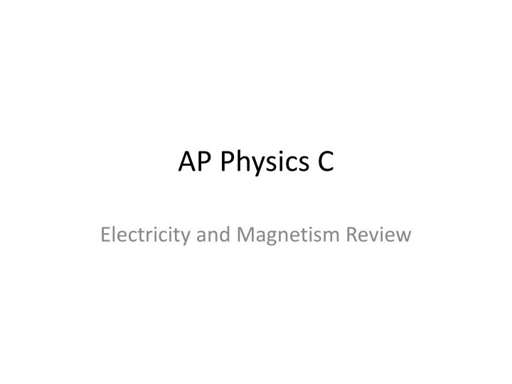 ap physics c n.