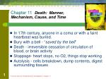 Chapter 11 Death: Manner, Mechanism, Cause, and Time