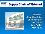 Supply Chain of Wal-mart