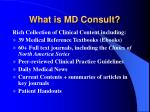 What is MD Consult?