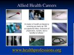 Allied Health Careers