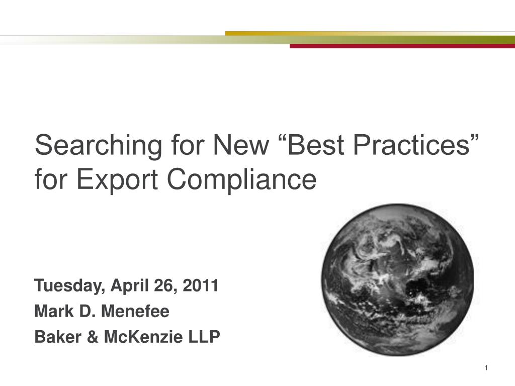 searching for new best practices for export compliance l.