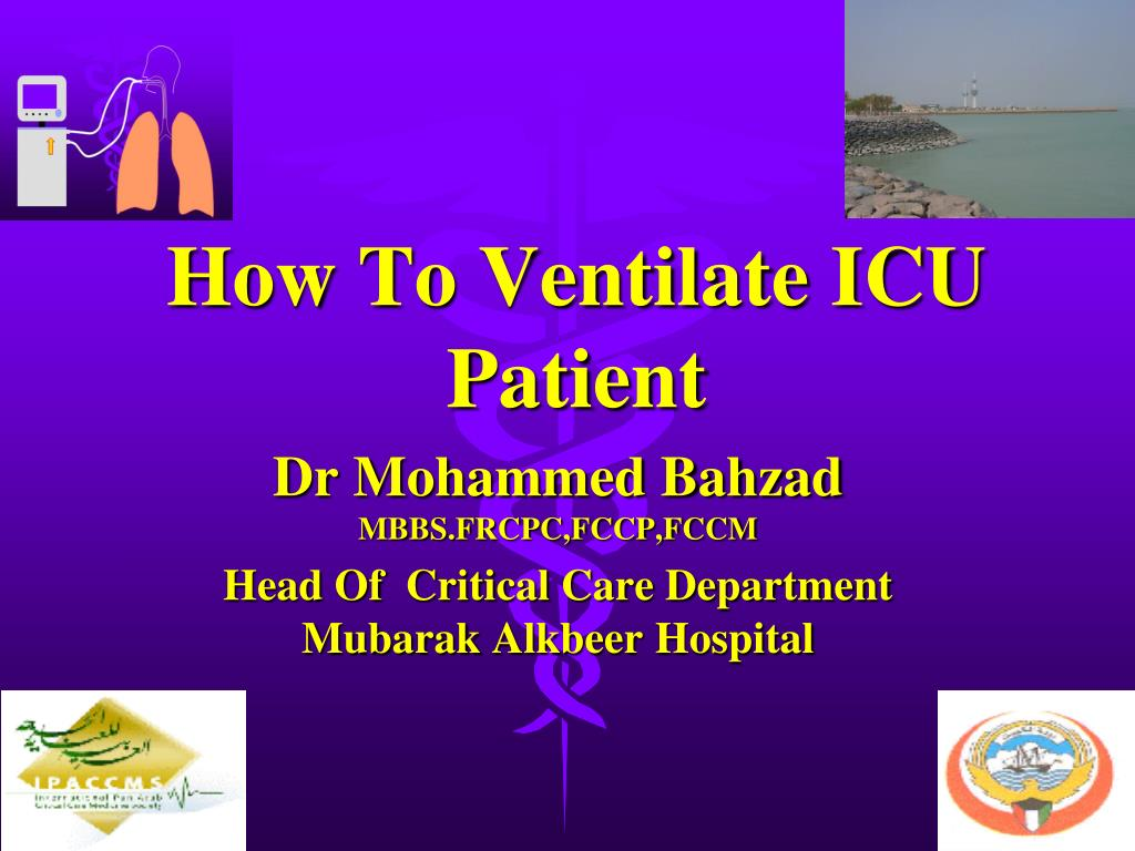 how to ventilate icu patient l.