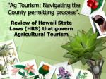 """""""Ag Tourism: Navigating the County permitting process""""."""