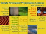 Sample Powerpoint Presentation Lessons
