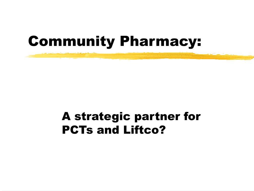 community pharmacy l.