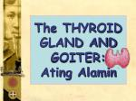 The THYROID GLAND AND GOITER: Ating Alamin