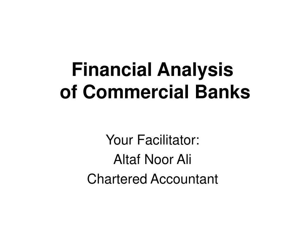 financial analysis of commercial banks l.