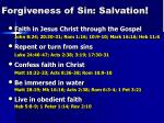 Forgiveness of Sin: Salvation !
