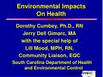 Environmental Impacts On Health