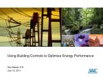 Using Building Controls to Optimize Energy Performance