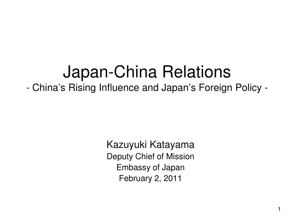 japan china relations china s rising influence and japan s foreign policy l.