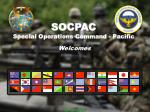 SOCPAC Special Operations Command - Pacific