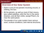Overview of Our Solar System