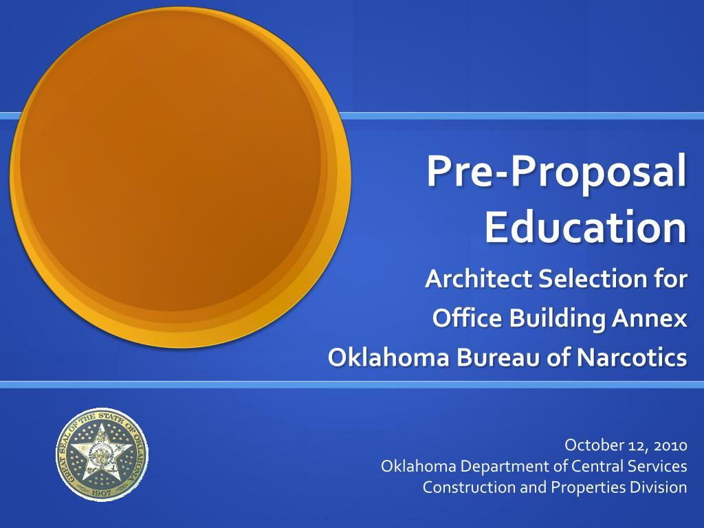 pre proposal education l.
