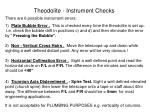 Theodolite - Instrument Checks
