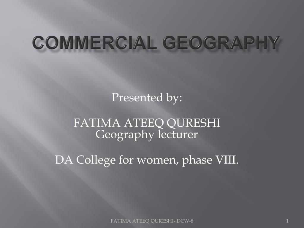 commercial geography l.