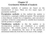 Chapter 12 Gravimetric Methods of Analysis