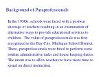 Background of Paraprofessionals