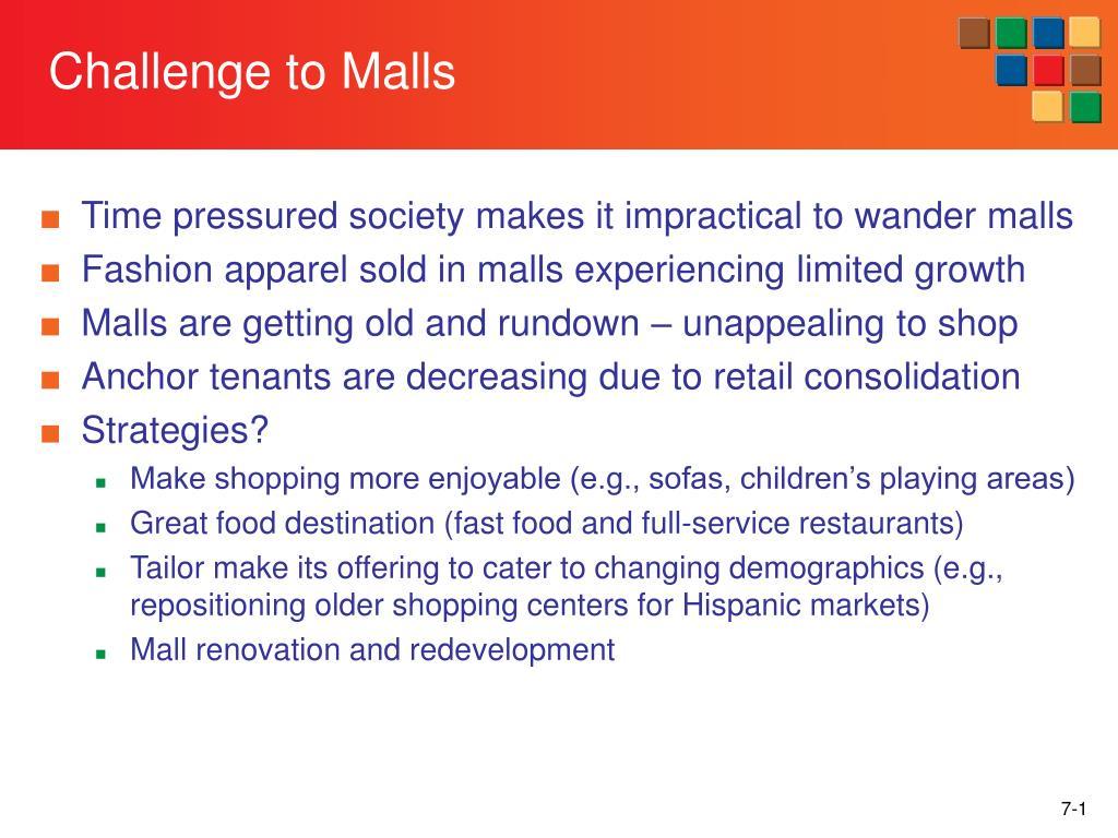 challenge to malls l.