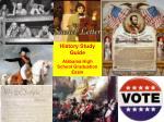 History Study Guide  Alabama High School Graduation Exam