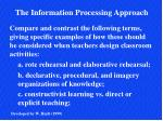 Compare and contrast the following terms, giving specific examples of how these should be considered when teachers desig