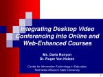 What's on the horizon that can help online and web-enhanced courses?