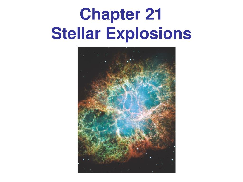 chapter 21 stellar explosions l.