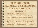 DISPOSICION DE EXCRETAS Y SISTEMAS DE ALCANTARILLADO