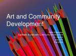 Art and Community Development