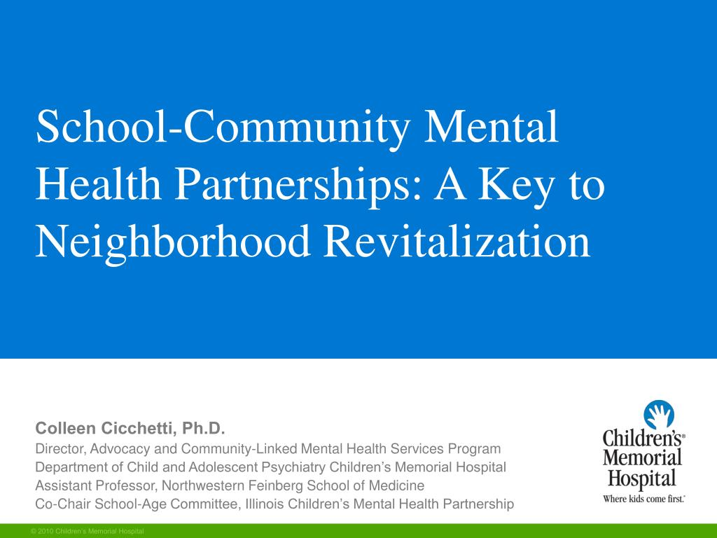 school community mental health partnerships a key to neighborhood revitalization l.