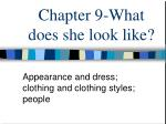 Chapter 9-What does she look like?
