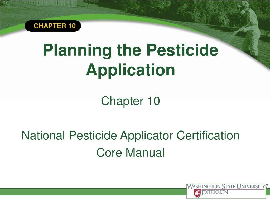 planning the pesticide application l.