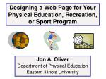 Designing a Web Page for Your Physical Education, Recreation, or Sport Program