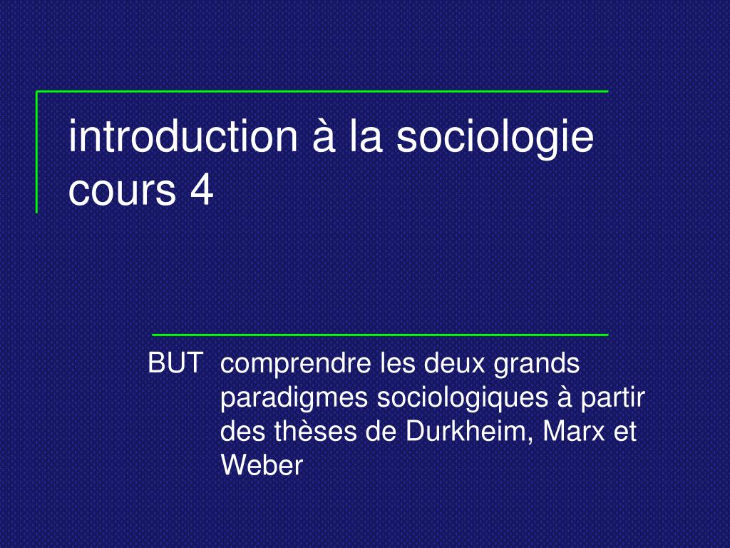 introduction la sociologie cours 4 l.