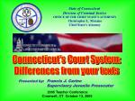 State of Connecticut  Division of Criminal Justice OFFICE OF THE CHIEF STATE'S ATTORNEY Christopher L. Morano Chief Stat