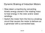 Dynamic Braking of Induction Motors